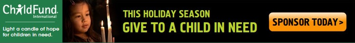 Childfund holiday banner