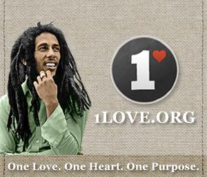 Bob Marley 1 Love Rectangle Ad