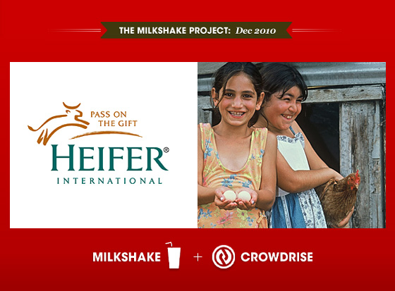 December Milkshake Project: GIVE A GIFT, CHANGE A LIFE