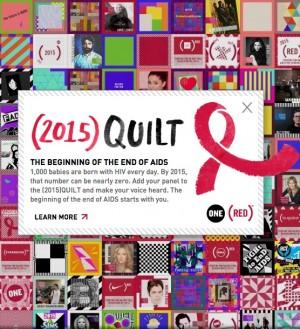 world aids day quilt box